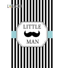 Laeacco Photo Backgrounds Baby Birthday Party Black White Stripes Little Man Portrait Backdrops Photocall Studio