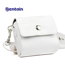1pc Fashion PU Leather White Bag Case for PAPERANG Printer Photo Printer Portable Camera Bag Travel Accessories