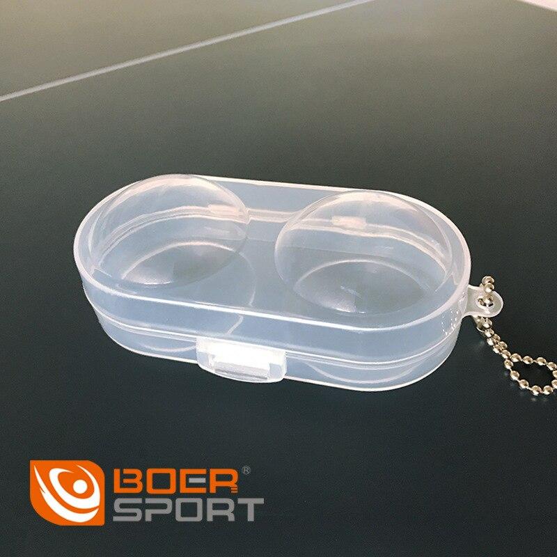 Boer Table Tennis Ball Box Ping Pong Plastic Box Ping Pong Packaging Ping Pong Storage Box Can Be Installed 2 Ball