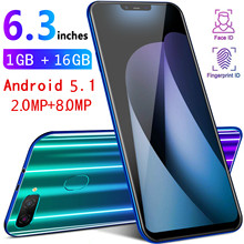 Get more info on the Smartphone M8 Global Version 1gb RAM 16gb ROM Smart Cell Phone Quad core 6.3 inch Telephone Dual Sim