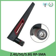 2.4 GHz 5GHz 5.8 Ghz anten gerçek 8dBi RP-SMA bağlayıcı çift bant wifi anten anten SMA dişi kablosuz yönlendirici 2.4 ghz 5.8 ghz