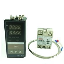 REX C400 ควบคุมอุณหภูมิ RKC PID เทอร์โม (SSR เอาต์พุต) + K ประเภท thermocouple + Max 40A SSR รีเลย์