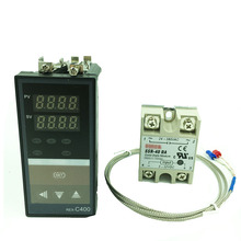 REX C400 דיגיטלי תרמוסטט RKC PID טמפרטורת בקר טרמוסטט (SSR פלט) + K סוג צמד תרמי + מקס 40A SSR ממסר
