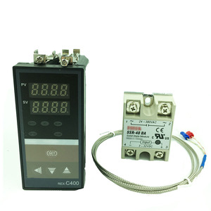 Image 1 - REX C400 termostato digital rkc pid controlador de temperatura termostato (ssr saída) + k tipo termopar + max 40a relé ssr