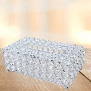 Хрустальная коробка для салфеток, простой домашний журнальный столик для гостиной с выдвижными ящиками, Настольный диспенсер салфеток, кор...