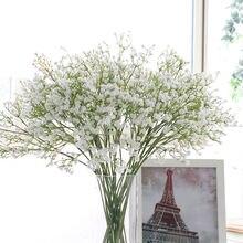 1pc artificial da respiração do bebê flor gypsophila silicone falso planta para o casamento casa hotel festa decoração interior