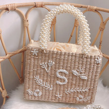 Oswego Pearl Straw Handbag Bali Seaside Holiday Hand-woven Tote Beach Bags For Women Hot Sale For Dropshipping 2019(China)