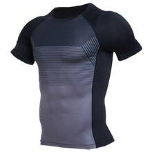 Sweatshirt Sports T Shirt Mens Shirt Long / Short Sleeve Printed Running Shirt Mens Sports Training Fitness Top Sportswear