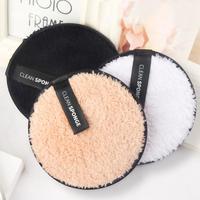 3 unids/set suave perezoso polvo limpiador Puff reutilizable de fibra de removedor de maquillaje Puff Kit de TSLM1