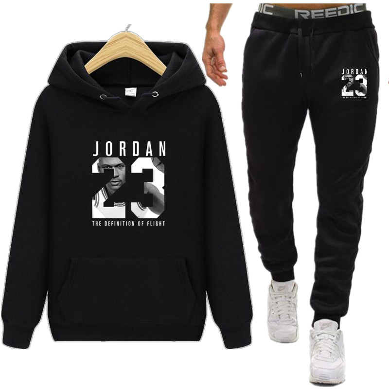 JORDAN 23 Hoodies Sweatshirt Men/Women New Fashion Bulls 23 Hoodie Sweatshirts+Sweatpants Suits 2019 Warm Fleece Hooded Pullover