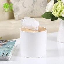 Creative Oak Roll Tissue Box Living Room Household Paper Tissue Box Creative Desktop Storage Box Napkin Holder недорого