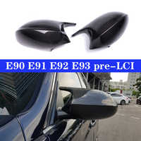 Real Carbon Mirror Caps Cover For BMW 3 Series E90 E91 05-07 E92 E93 06-09 Door Side Replacement M3 Style Cap E81 E82 E87 E88