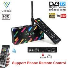 2020 DVB T2 Terrestrischen Digital TV Receiver H.265/HEVC HD TV Decoder 10-Bit Für Italien Spanien Unterstützung meecast App Youtube TV Tuner