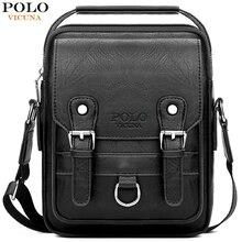 VICUNA POLO сумка в комплекте кожаная мужская сумка мессенджер с кошельком Повседневная брендовая Высококачественная сумка через плечо деловая мужская сумка на плечо