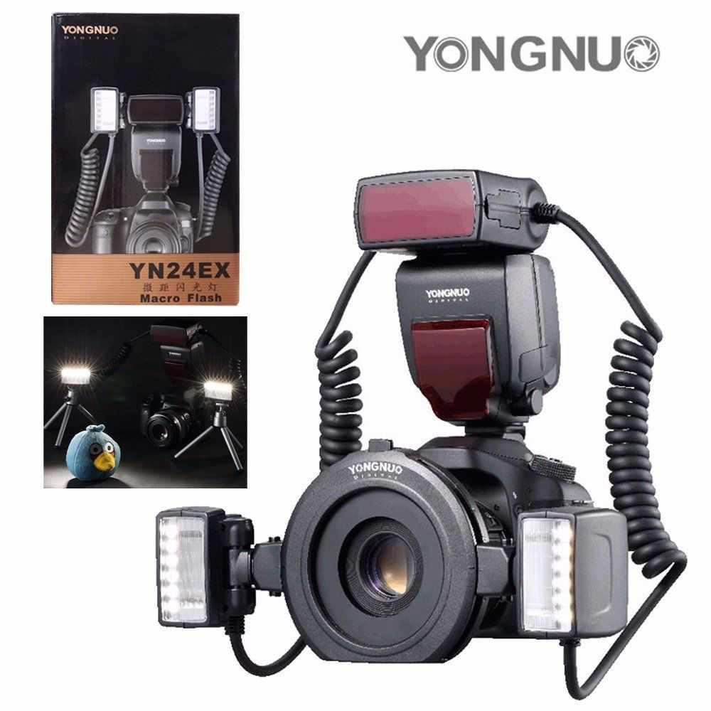 YONGNUO YN-24EX Macro anneau Flash Speedlite avec 2 tête de Flash 4 anneaux adaptateur pour Canon