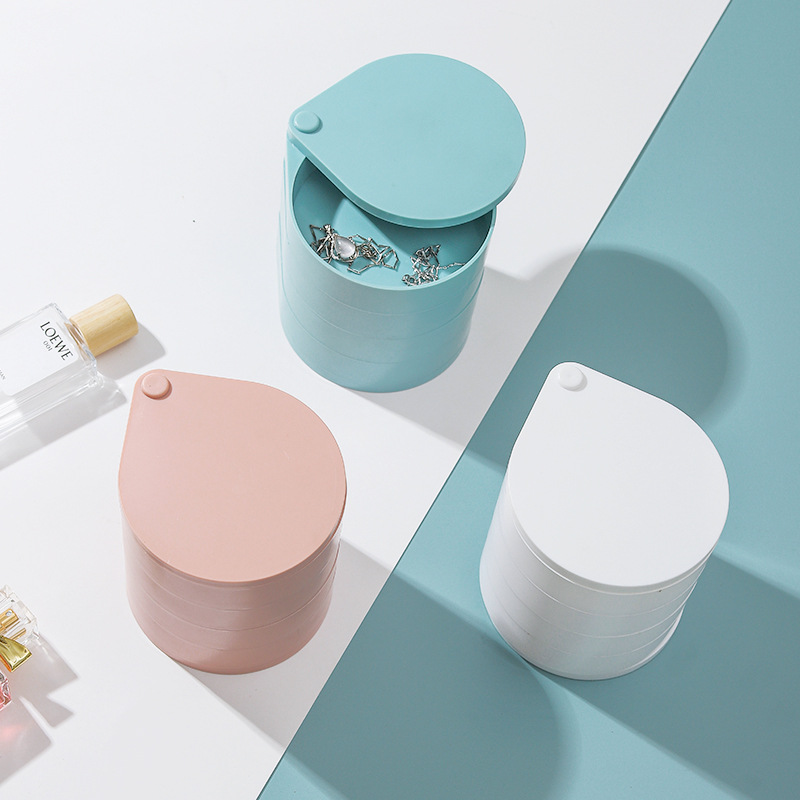Aubrey Multi-Layered Jewelry Box with Mirror