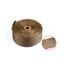 цена на 15M Universal Thermal Exhaust Tape Motorcycle Exhaust Tape Heat Wrap Cloth Resistant Noise High Temperature Insulation