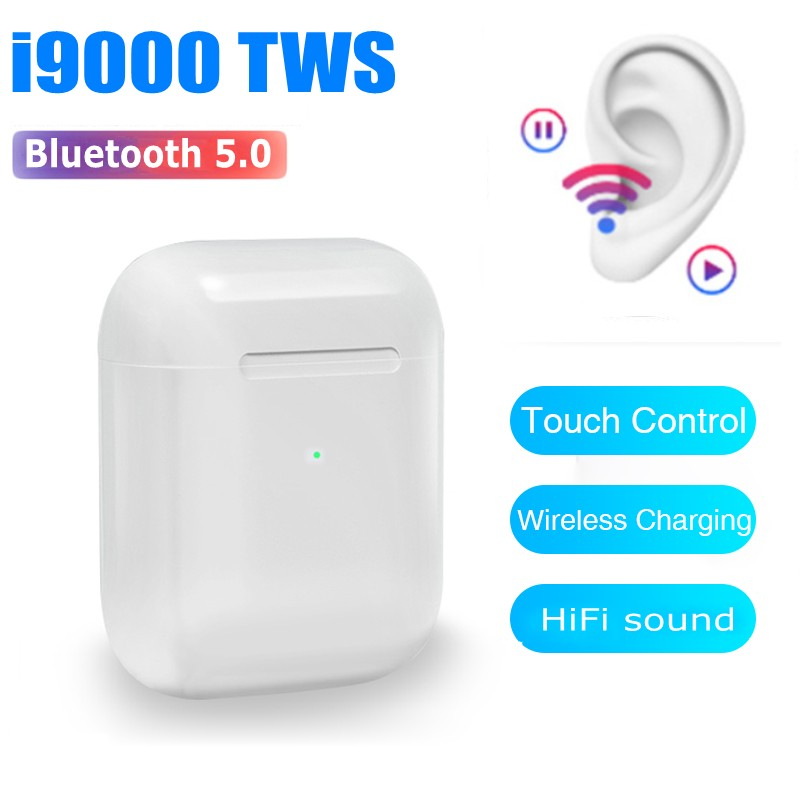 <font><b>Original</b></font> i9000 <font><b>TWS</b></font> 1:1 Smart Sensor Wireless Earphone Touch Control 8D Super Bass Bluetooth 5.0 Earbud pk i200000 mx pro <font><b>i30000</b></font> image