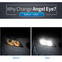 2pcs Car Lights For BMW 1-Series 1600LM H8 120W LED Angel Eyes Lamp Upgrade Kit Car Headlight Fog Light Auto Parts(China)