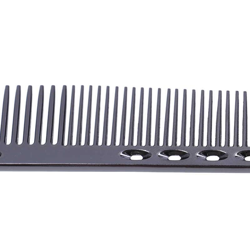 Hommes femmes aluminium métal coupe peigne cheveux coiffure & barbiers Salon peignes antistatique professionnel barbiers brosse à cheveux