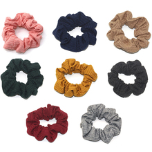 1PCS Soft Cotton Scrunchie Women Girls Elastic Hair Bands Tie Ring Rope Ponytail Holder Lady Accessories