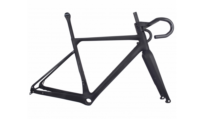 MIRACLE Falt Mount Disc Brake T700 Carbon Bicycle Frame Gravel Frame PF30 UD Matte GR039