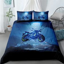 3D Bedding Set Motorcycle Print Duvet Cover Set Bedcloth with Pillowcase Bed Set Home Textiles Single double queen cactus print bedding set