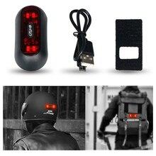 Motorcycle Helmet Cycle Bike Helmet Night Safety Signal Warn