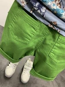 Image 3 - 2PCS WLG בני קיץ בגדי סט ילדים פרחוני מודפס חולצה וג ינס ripped קצר סט ילדי בגדים