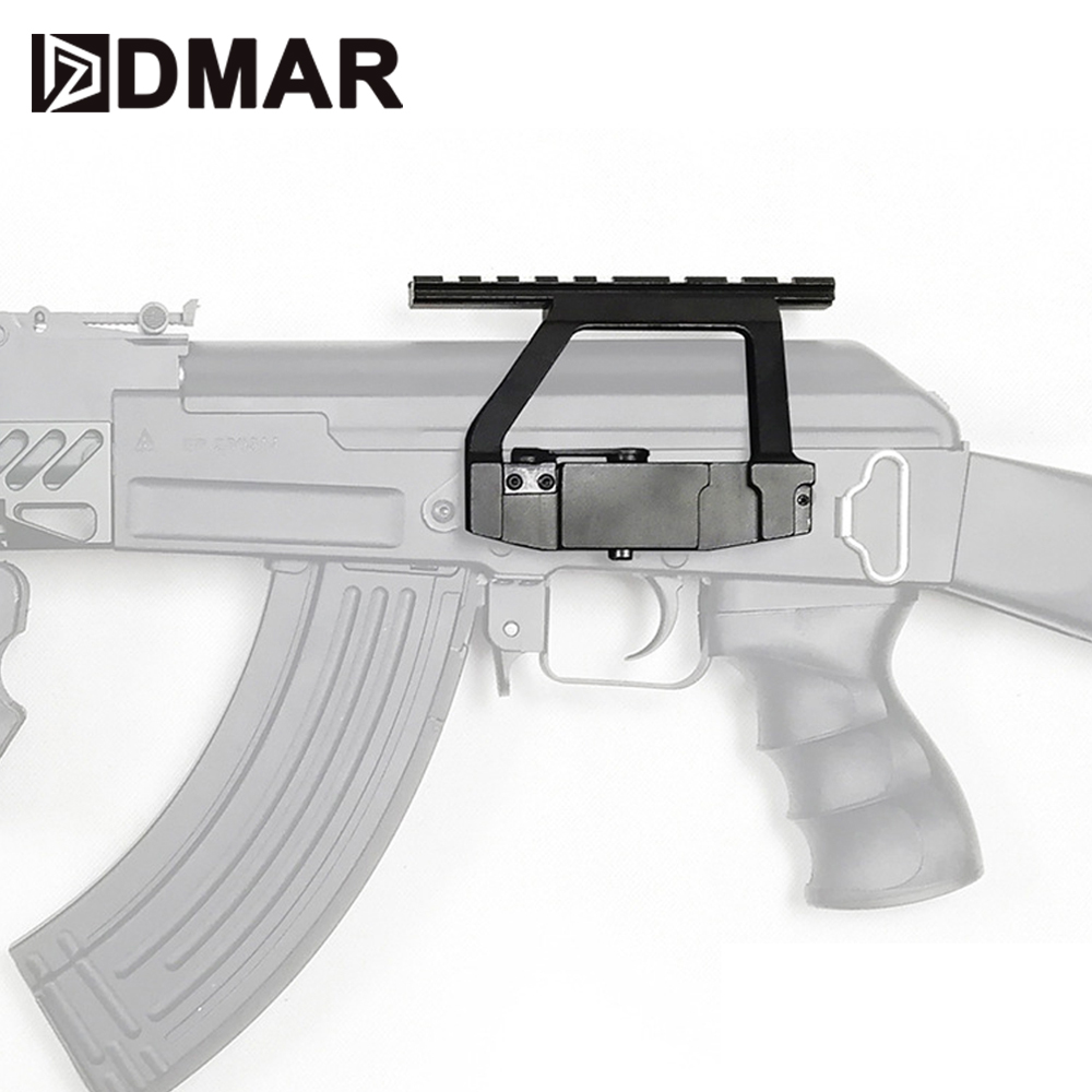 Ak47 tactical ferroviário picatinny para scope red dot sistema cnc de alumínio tático para ak aeg/gbb rifles b30 b31 caça festa