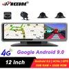 WHEXUNE 2021 Car DVR 4 Channel Lens Android 9.0 Dashboard Camera Video Recorder 1080P Rearview Mirror 4G Dash Cam Auto registrar