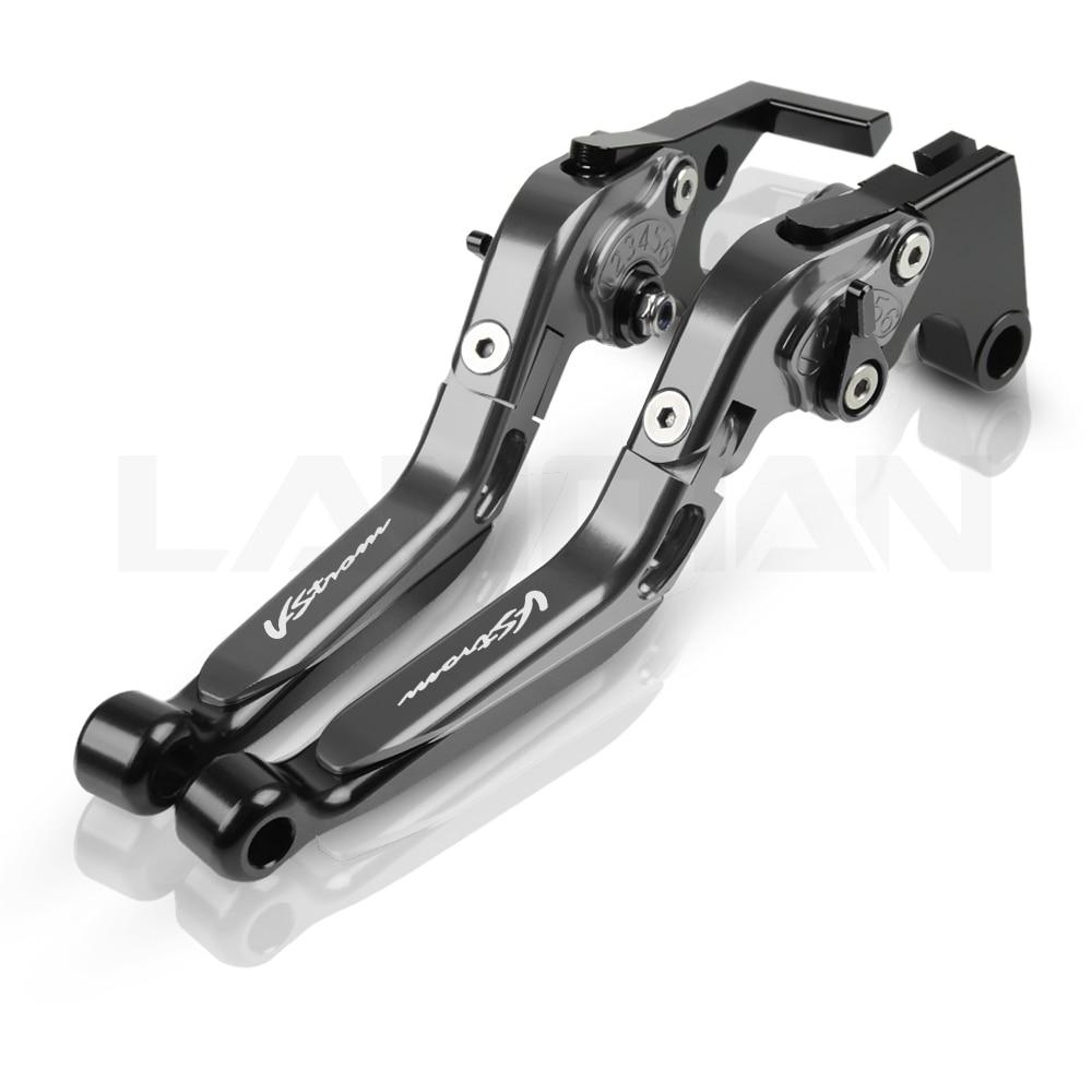 /2010 CNC allungabile pieghevole moto regolazione del freno leve frizione per Suzuki DL650//v-strom 2004/