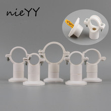 4pcs 20Mm 25Mm 32Mm 40Mm Double Use PVC Pipe Clamp Clip Support Bracket Water Connector Garden Irrigation System Fittings