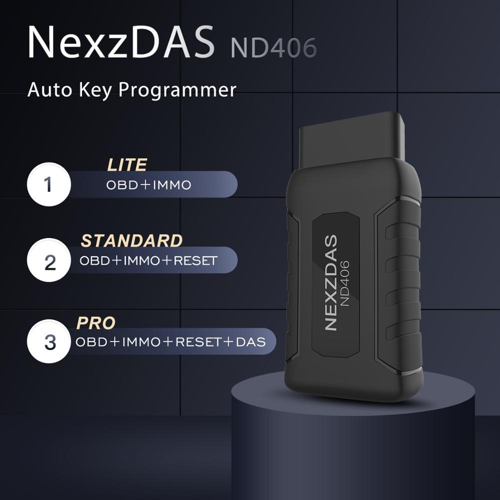 HUMZOR NEXZDAS ND406 OBD Auto Car Key Programmer Immobilizer Universal Car Diagnostic Tool OBD2 Car Code Reader Scanner