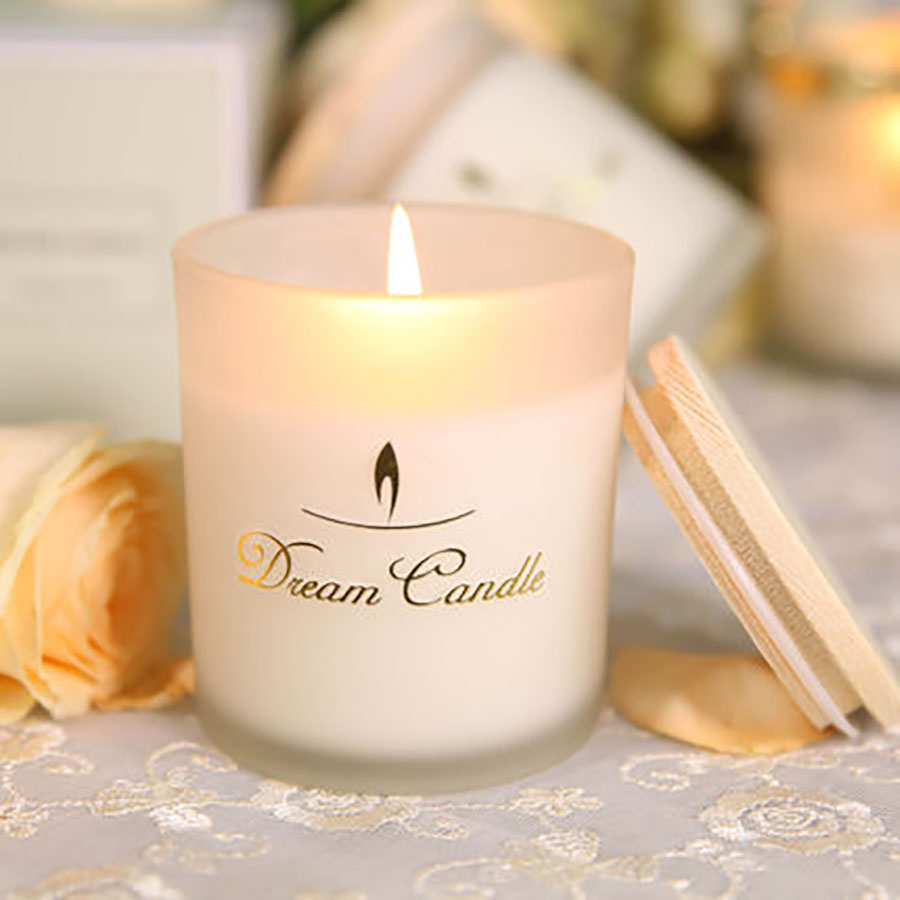Glass Candle Jars With Lid Aromatherapy Smokeless Wedding Decoration Romantic Scented Candles Christmas Soy Wax Kaarsen Qlb017 Candles Aliexpress