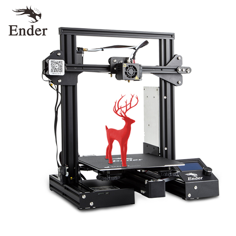 Image 2 - Ender 3 Pro 3D Printe DIY KIT Upgrad Cmagnet Build Plate Ender 3Pro Resume Power Failure Printing Mean Well Power Creality 3D-in 3D Printers from Computer & Office