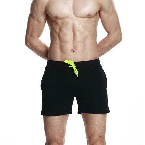 Roupa de Banho Sólida de Secagem Calções de Ginásio de Algodão Ternos de Natação dos Homens Praia de Curto Masculina Rápida Bordo Respirável Maiô 2020