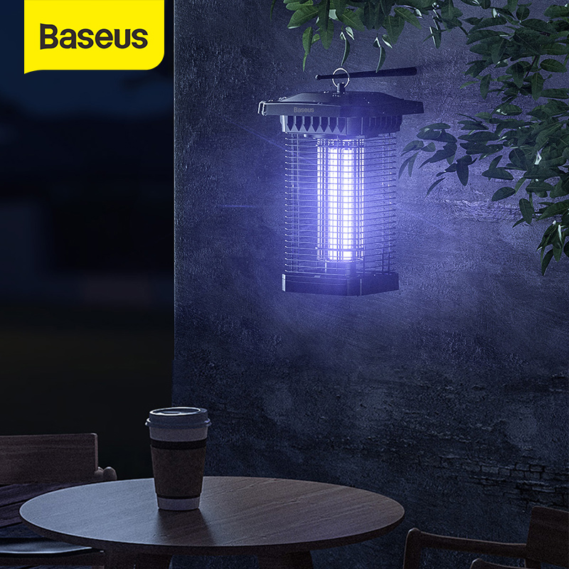 Baseus lámpara antimosquitos para Patio de Anti Mosquito insecto Zapper repelente de mosquitos eléctrico trampa LED noche luces al aire libre Lámparas matamosquitos    - AliExpress