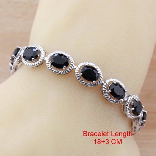 Oval Black Cubic Zirconia...