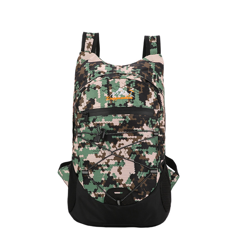 New Style Outdoor Camouflage Waterproof Folding Bag Men And Women Light Fashion & Sports Backpack Small Capacity Hiking Travel