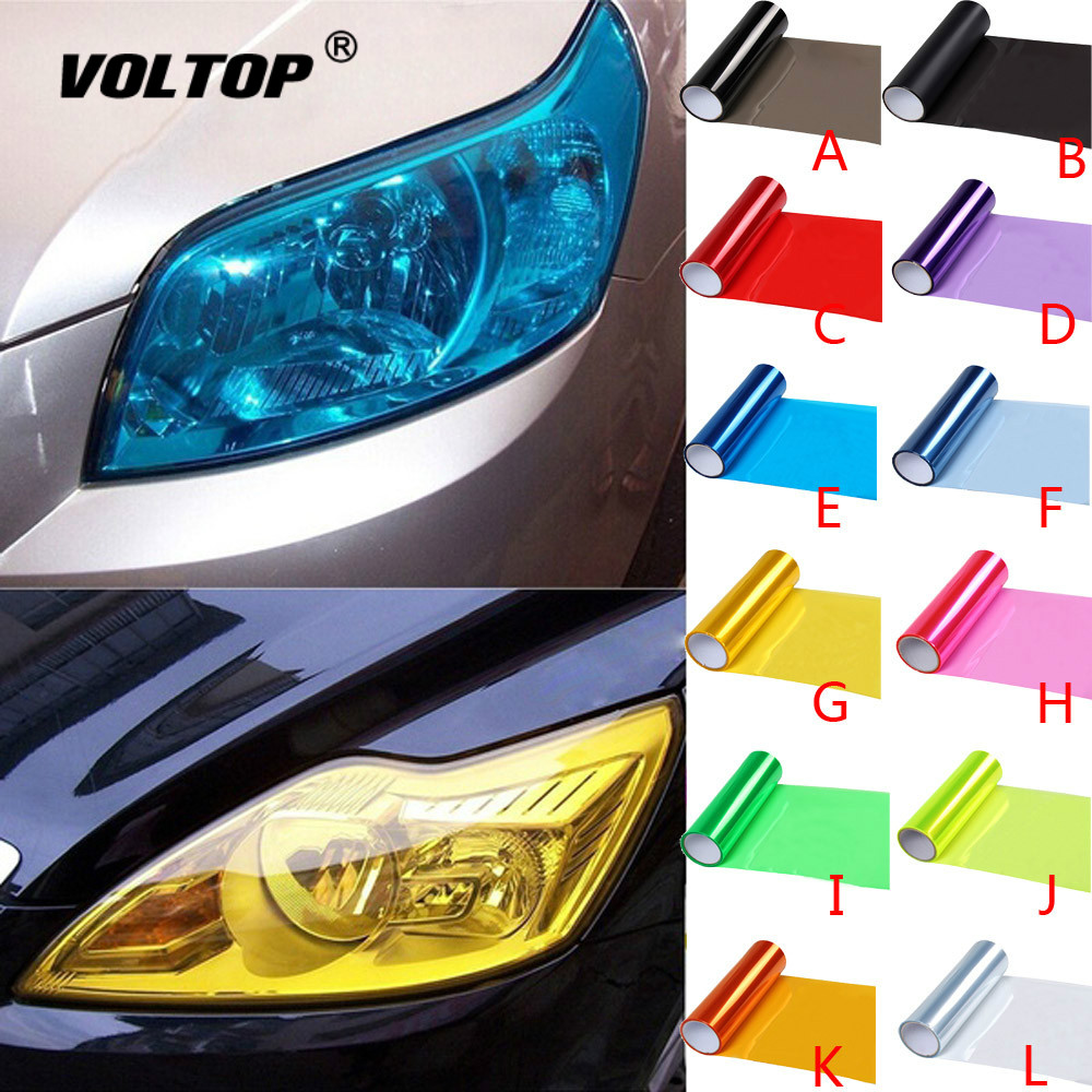 Image 1 - Vinyl Film Sheet Sticker Car Smoke Fog Light Headlight Taillight Tint Autocollant De Voiture Car Accessories Headlight Cover-in Car Stickers from Automobiles & Motorcycles