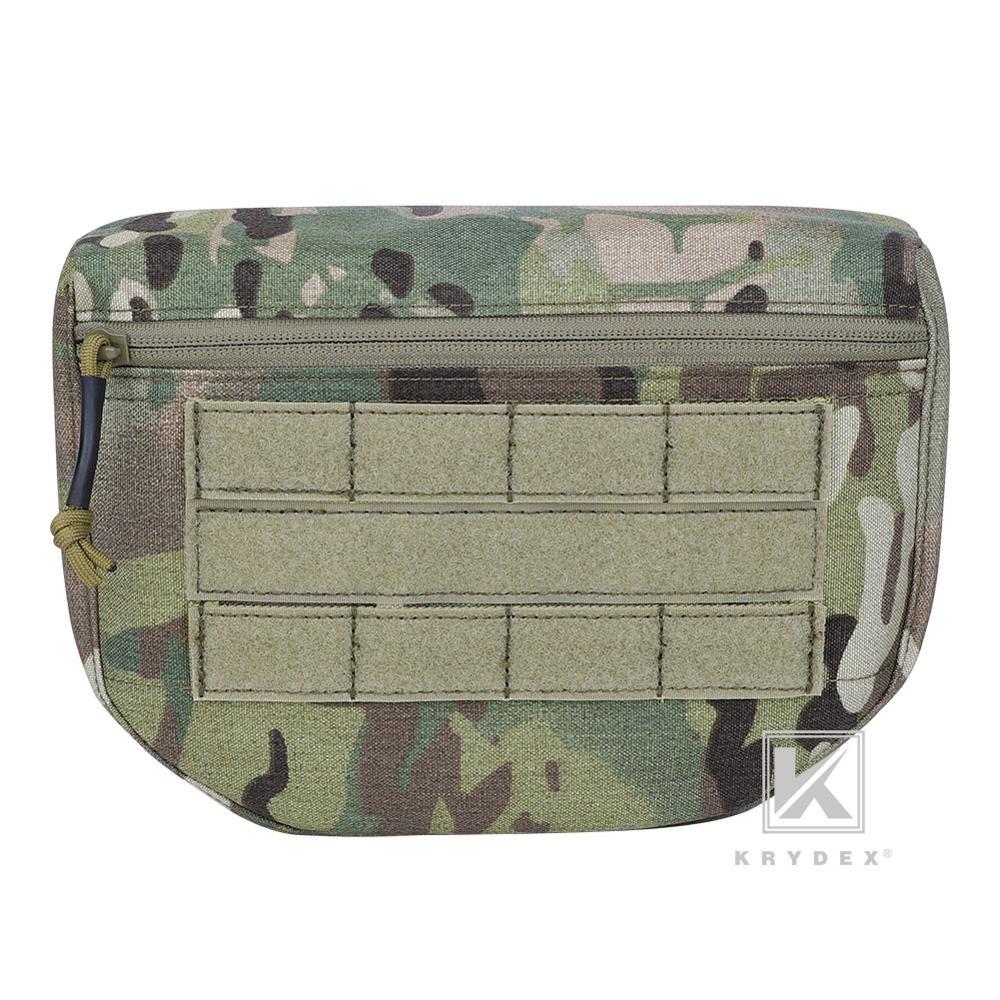 KRYDEX Tactical Drop Dump Pouch Fanny Pack Multicam Tool Storage Bag Front Pocket For Plate Carrier JPC AVS CPC APC RRV Vest