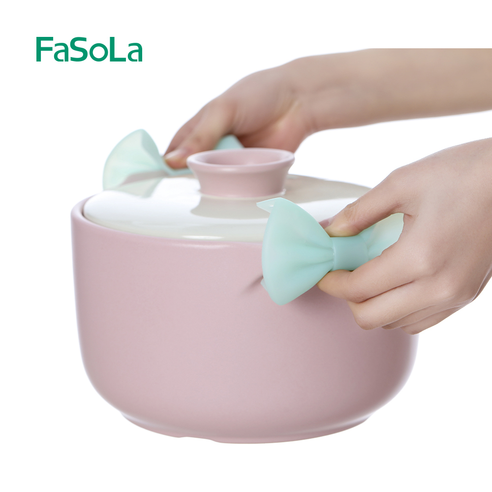 FaSoLa 2 Pieces Silicone Microwave Oven Gloves Anti-scalding Clamping Trays Anti-scalding Heat Insulation Kitchen Tools