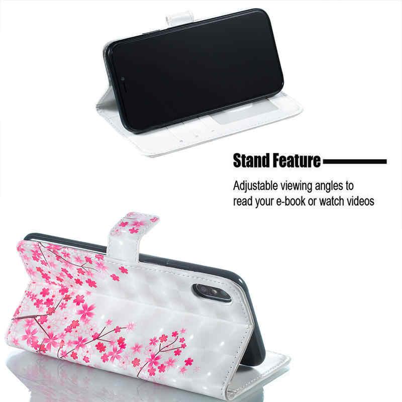 3D הבלטה ארנק Flip טלפון מקרה עבור iPhone 7 8 בתוספת 6 6s בתוספת X XR XS 11 פרו מקסימום כיסוי עבור iPhone 5 5S SE עם כרטיס חריץ Etui