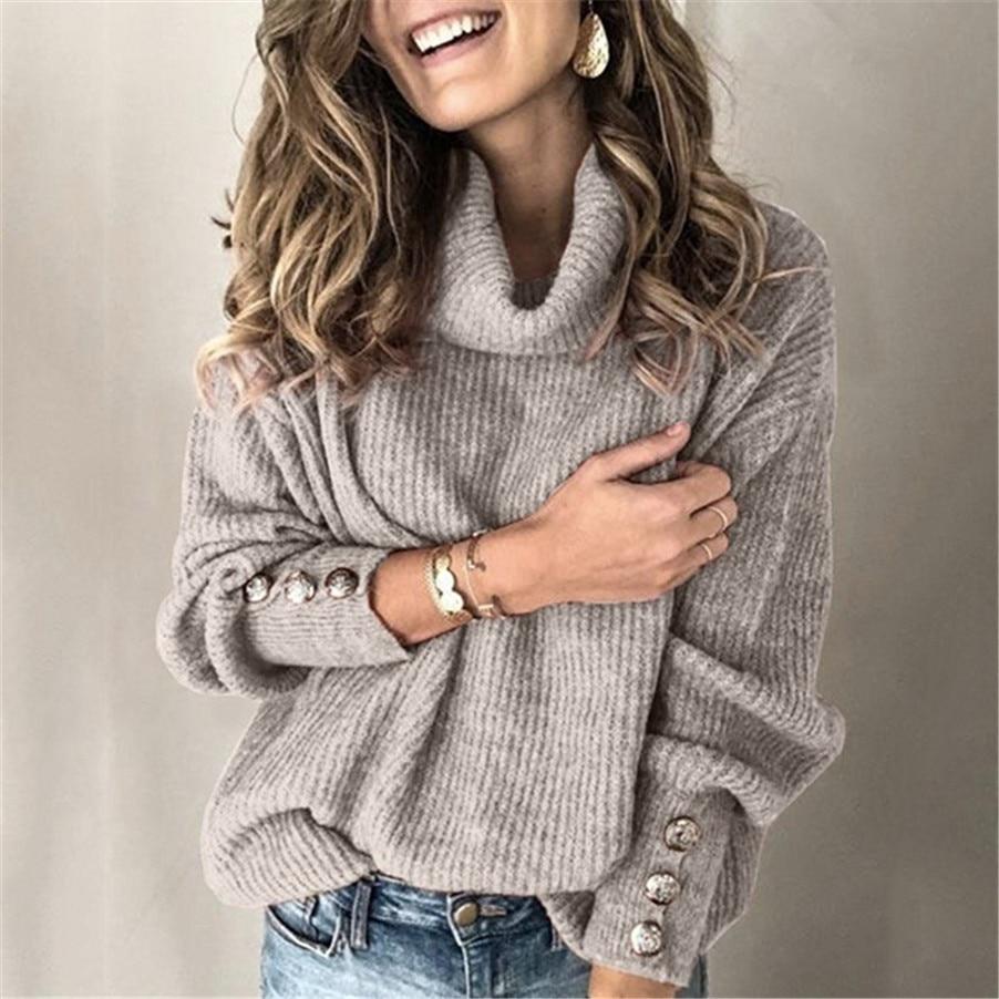 Autumn/winter 2019 Women's Hot Style High-necked Knitwear