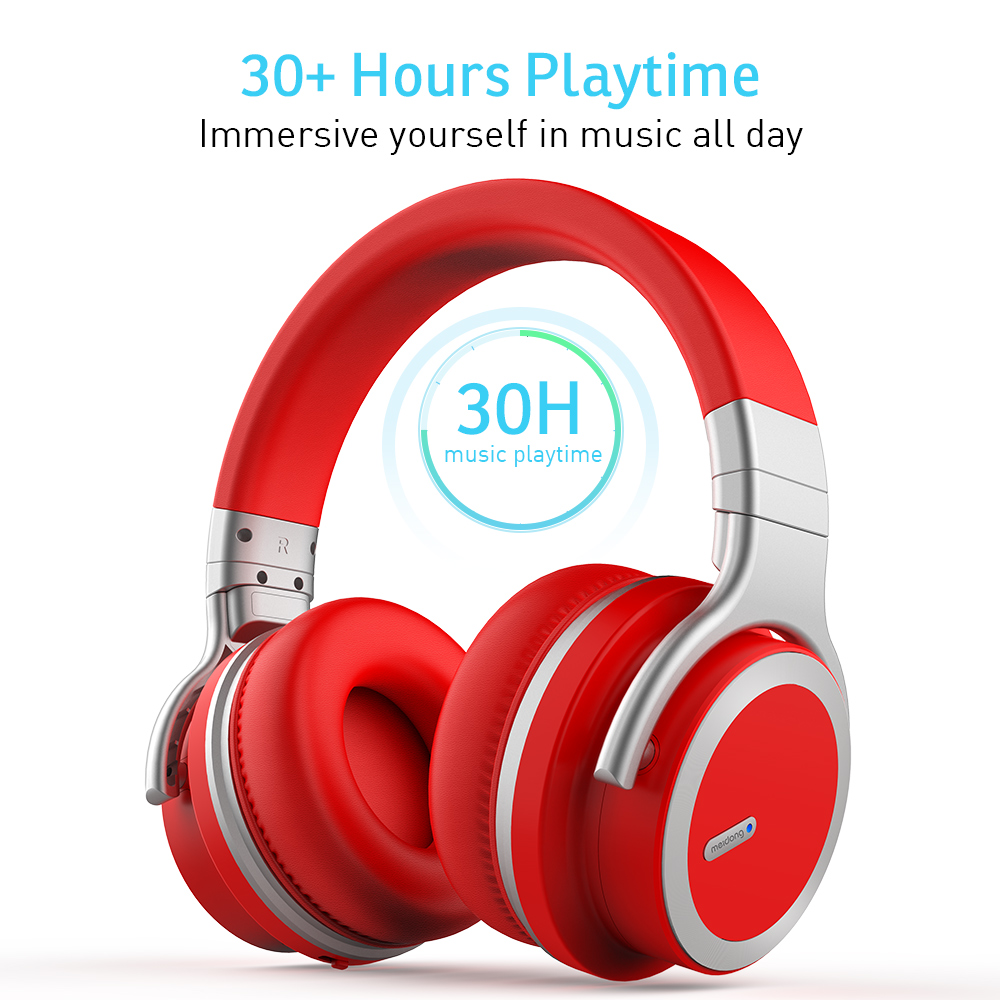 Image 4 - Meidong E7MD PRO headset Bluetooth active noise canceling headphones music wireless phone subwoofer headset-in Bluetooth Earphones & Headphones from Consumer Electronics
