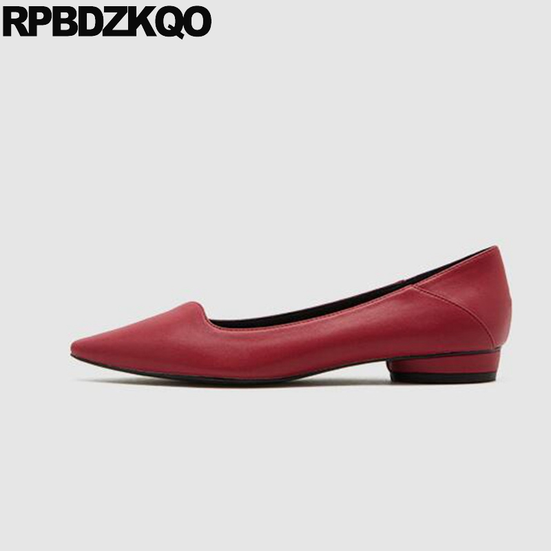 designer shoes women luxury 2019 italian red ladies shallow large size slippers flats china slip on mules pointed toe chinese