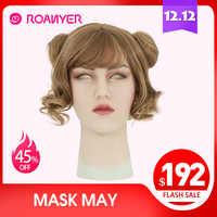 Roanyer kann maske latex sexy cosplay silikon maske künstliche realistische haut für crossdresser transgender männlichen transen Drag Queen