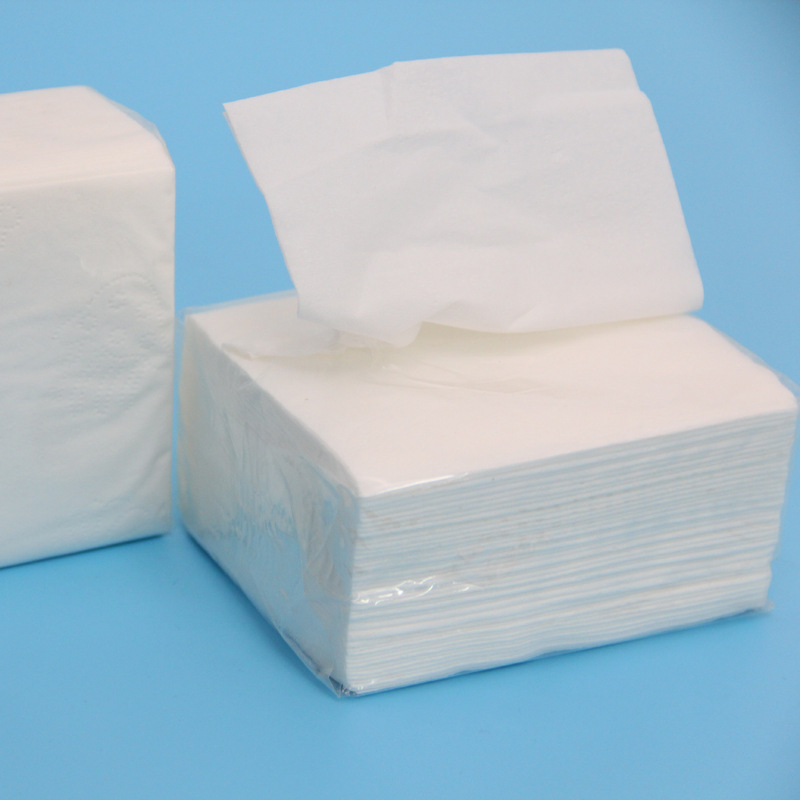 A Pack Of 300Pcs Transparent Packaging Toilet Paper Bathroom Towel Sanitary Cleaning Towel Original Wood Pulp Towel