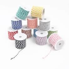 Cuerda de algodón para panadero, cuerda de decoración navideña, boda, regalo, embalaje, Artesanías hechas a mano rústico, 10 metros por rollo, 1,5mm
